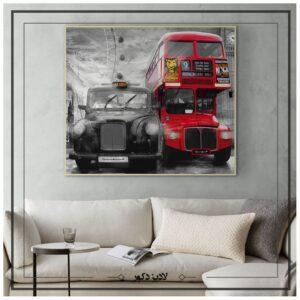 تابلو دکوراتیو اتوبوس سرخ