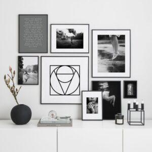 تابلو ست 8 تایی مدرن سیاه و سفید 1025
