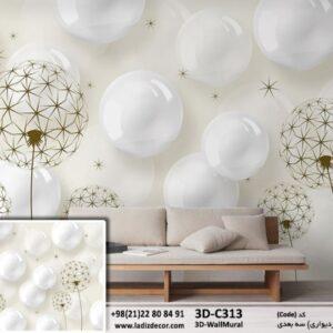 حباب های سه بعدی و قاصدک 3D-C313