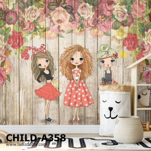 پوستر دیواری کارت پستالی اتاق کودک