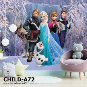 پوستر کارتون فروزن Frozen السا و انا و اولاف