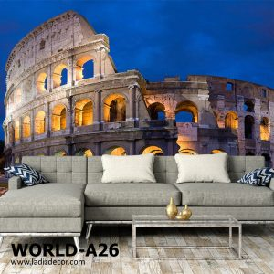 پوستر بنای باستانی رم ایتالیا