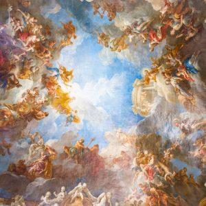 پوستر نقاشی سقفی کلیسایی طرح فرشته های آسمانی