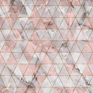 پوستر سنگ مرمر طوسی با لایه مثلث های شیشه ای
