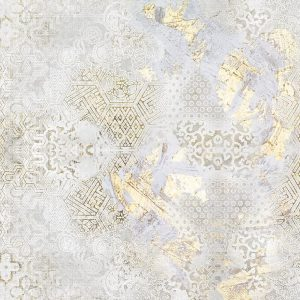 پوستر نقش و نگار با رگه های طلایی روی زمینه پتینه روشن