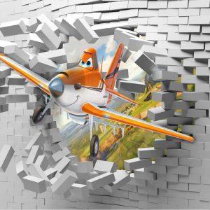 پوستر دیواری انیمیشن و کارتون هواپیماها سه بعدی
