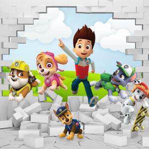 پوستردیواری کارتون و انیمیشن سگهای نگهبان اتاق کودک